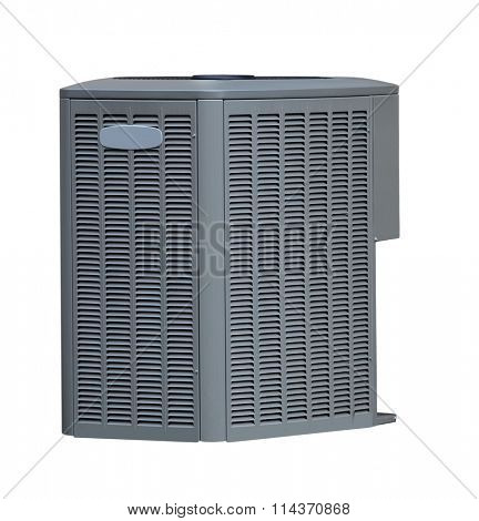 Air conditioner AC out side unit isolated on white