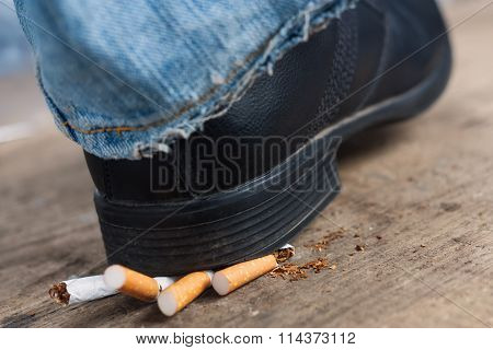 Man refuses to smoking