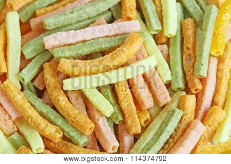 Organic tomatoes, spinach, potatoes baked veggie straw for food background