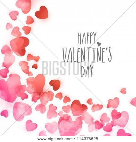 Beautiful creative hearts decorated greeting card design for Happy Valentine's Day celebration.