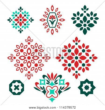 Isolated decorative elements for patterns and decoration