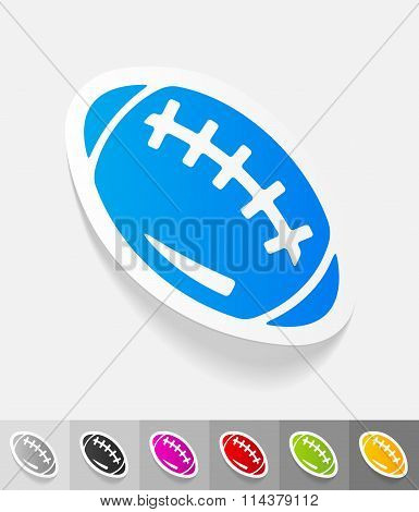 realistic design element. rugby ball