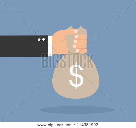 Hands Holding Money Bag
