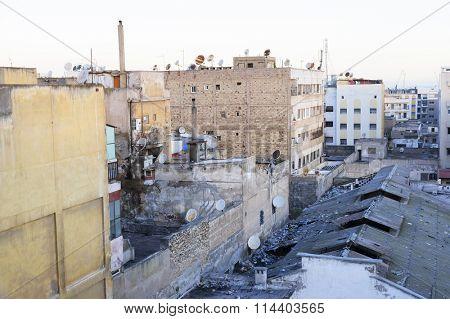 Inner-city slum in Casablanca, Morocco, Africa
