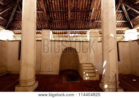 Interior of the Old Mosque of Pengkalan Kakap in Merbok, Kedah