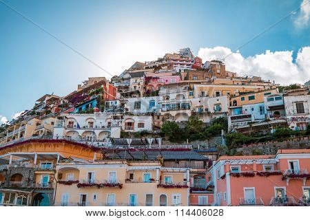 Hill Of Houses In Positano