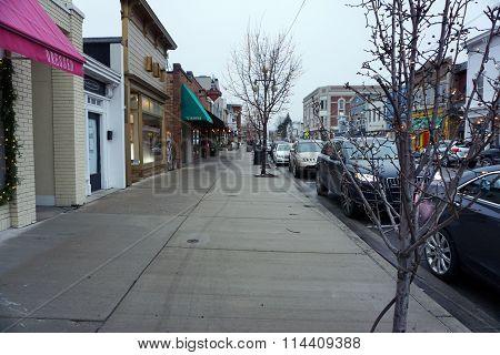 Sidewalk on Main Street