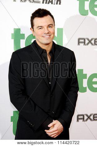 Seth MacFarlane at the Los Angeles premiere of