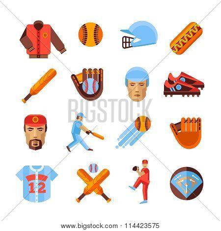 Baseball Icons Set