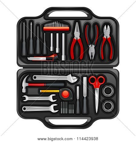 Tool Box With Toolkit Set