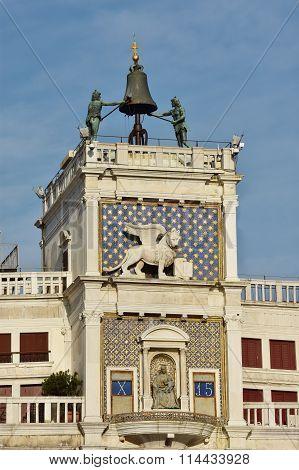 Saint Mark Clocktower With Famous Moors