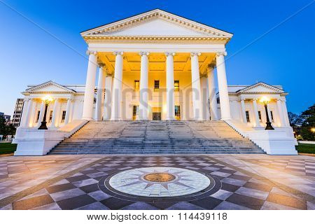 Virginia State Capitol in Richmond, Virginia, USA.