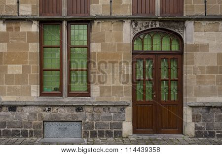Doorway and window in Belgium