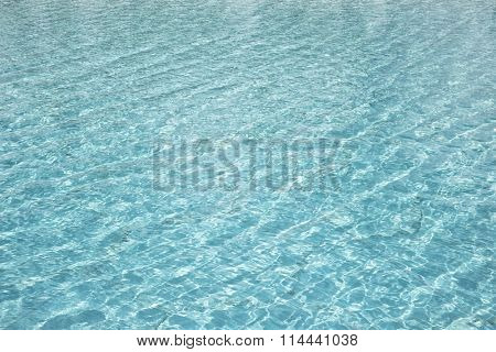 A beautiful turquoise water texture background with caustics