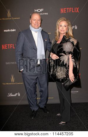 BEVERLY HILLS, CA - JAN. 10: Rick Hilton and Kathy Hilton arrive at the Weinstein Company and Netflix 2016 Golden Globes After Party, Jan. 10, 2016 at the Beverly Hilton Hotel in Beverly Hills, CA.