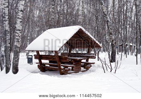 Alcove In Snow
