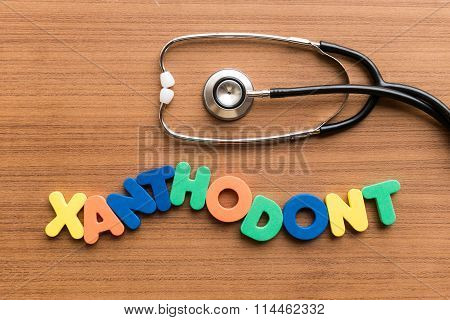 Xanthodont Colorful Word