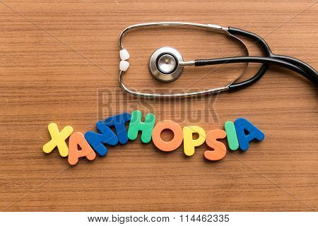 Xanthopsia Colorful Word