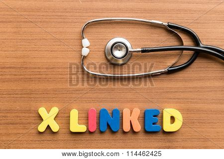 X Linked Colorful Word