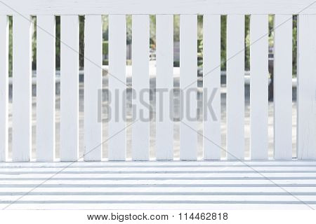 The Backrest Of White Wooden Chairs