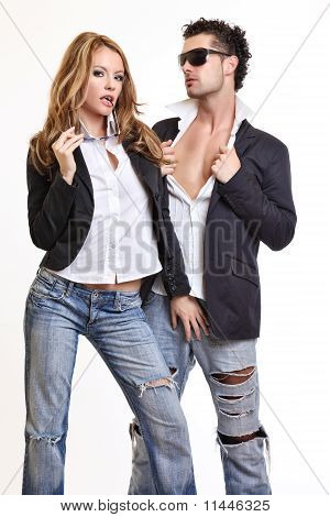 Passionate Couple Flirting