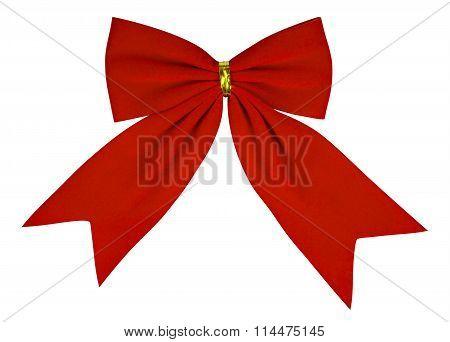 Velvet Bow - Red