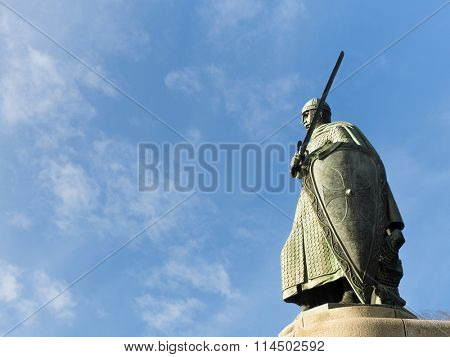 Afonso Henriques statue, first king of Portugal, Guimaraes