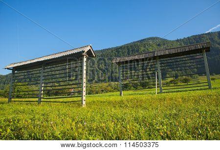 Hayrack near Bohinj, Slovenia