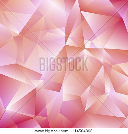 Delicate Pink Geometric Background