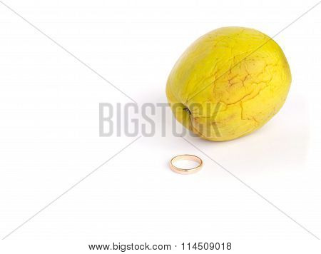 A Ring And A Shrivelled Apple