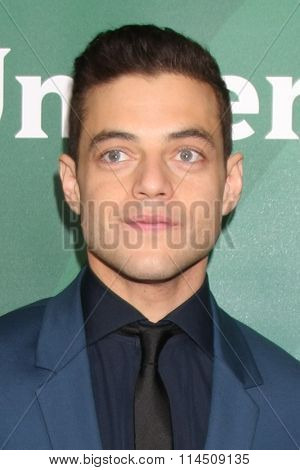 LOS ANGELES - JAN 14:  Rami Malek at the NBCUniversal Cable TCA Press Day Winter 2016 at the Langham Huntington Hotel on January 14, 2016 in Pasadena, CA