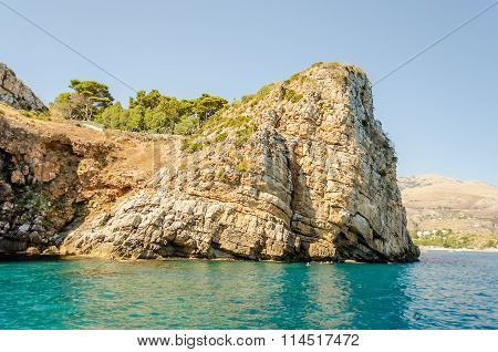 Wild Beautiful Coastline at the Zingaro Natural Reserve Sicily Italy poster