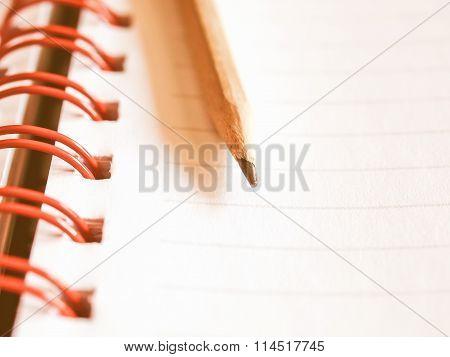 Blank Notebook Page Vintage