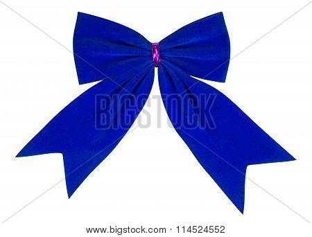 Velvet Bow - Blue
