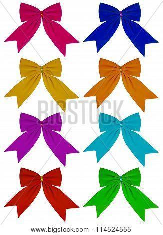 Velvet Bow - Colorful
