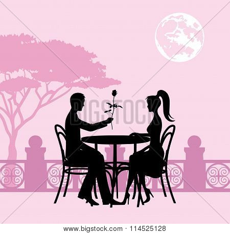 Romantic Evening In A Restaurant