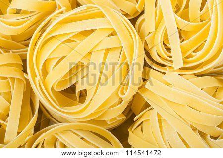 Nests Of Durum Wheat Semolina Pasta Fettuccine
