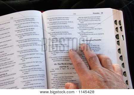 Bible And Hand