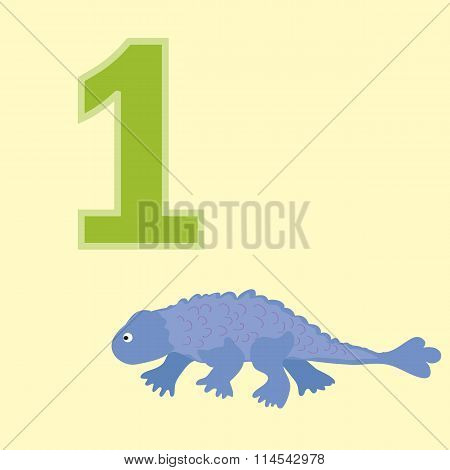 Number One. One Dinosaur (ankylosaur).
