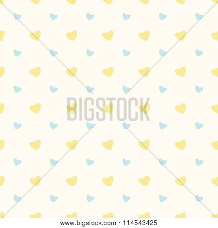 Seamless Pattern With Hearts For Valentine's Day