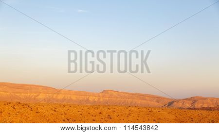 Magestic Landscape At The Bottom Of The Big Crater Hamakhtesh Hagadol