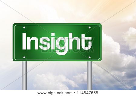 Insight Green Road Sign, Business Concept