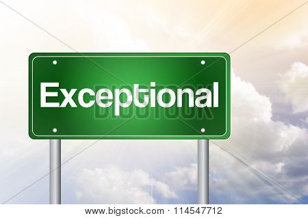 Exceptional Green Road Sign, Business Concept