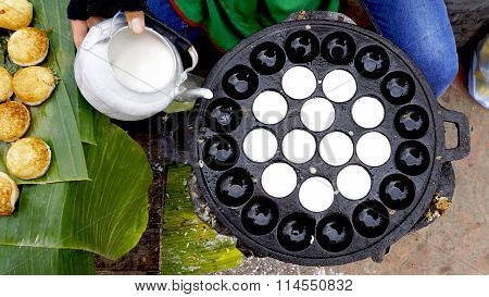 Process Of Cooking Sweet And Savory Grilled Coconut
