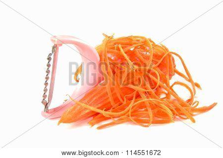 carrot slicer isolated on white background .