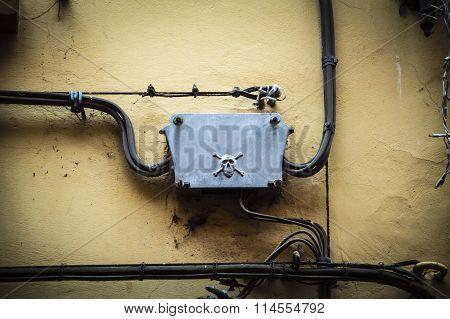 Danger Old Electrical Plant