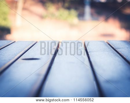 Frost on Wooden Table 2