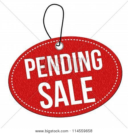 Sale Pending Label Or Price Tag