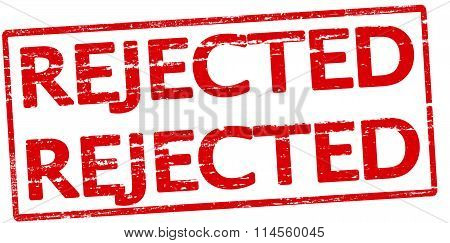 Rubber stamp with word rejected inside vector illustration