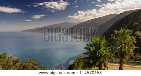 Viewpoint over the north coast of Madeira Portugal poster